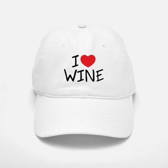 I Love Wine Baseball Baseball Cap