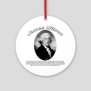 James Wilson 01 Ornament (Round)