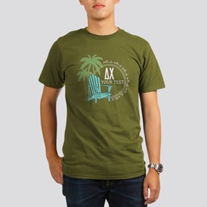 Delta Chi Palm Chair Organic Men's T-Shirt (dark)