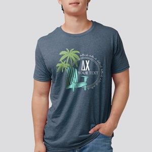 Delta Chi Palm Chair Perso Mens Tri-blend T-Shirts