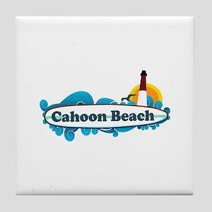 "Cahoon Beach ""Surf"" Design. Tile Coaster"