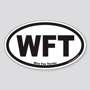 Wire Fox Terrier WFT Euro Oval Sticker