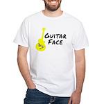 Guitar Face White T-Shirt