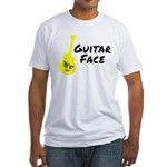 Guitar Face Fitted T-Shirt