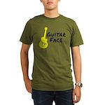 Guitar Face Organic Men's T-Shirt (dark)