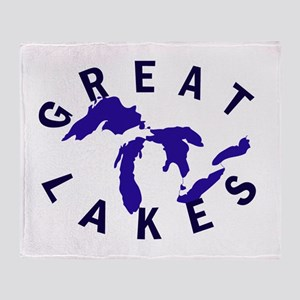 Great Lakes shirts, stickers, Throw Blanket