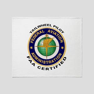 Tailwheel Pilot Throw Blanket