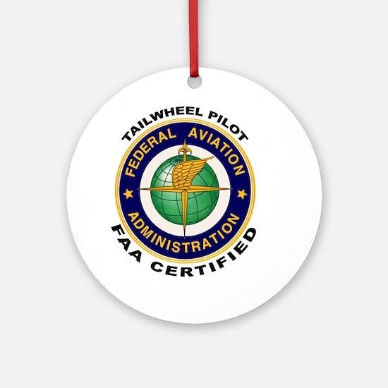 Tailwheel Pilot Ornament (Round)