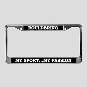 Bouldering License Plate Frame