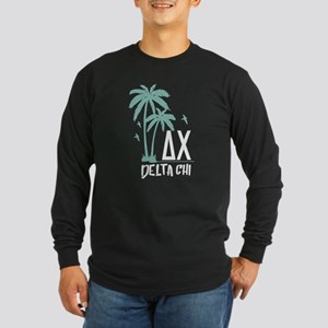 Delta Chi Palm Tree Long Sleeve Dark T-Shirt