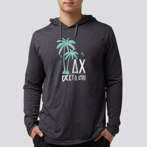 Delta Chi Palm Tree Mens Hooded T-Shirts