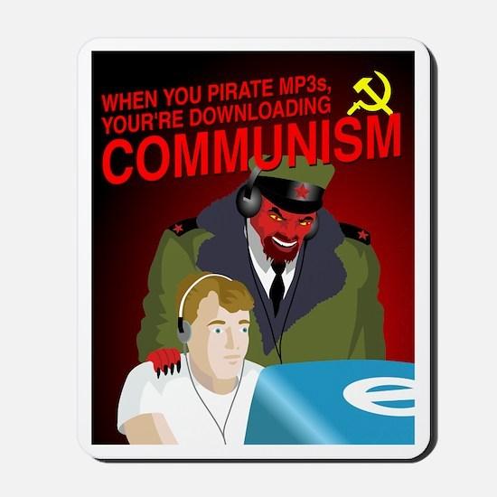 Downloading Communism Mousepad