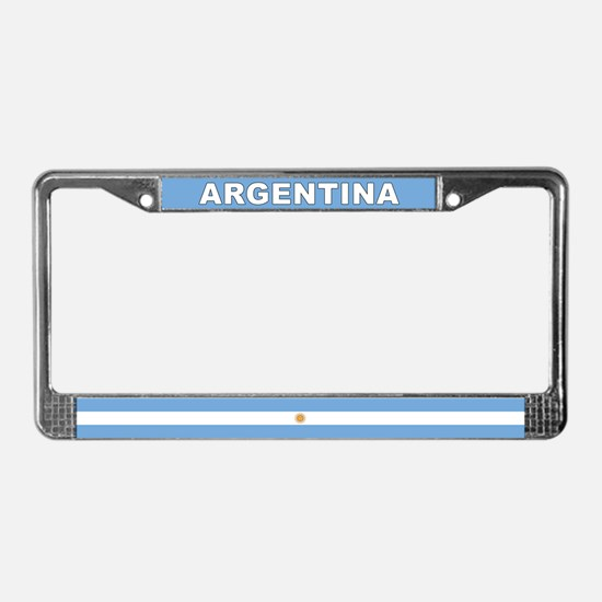 Argentina World Flag License Plate Frame