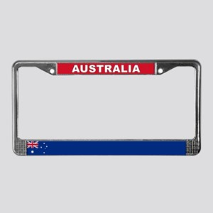 Australia World Flag License Plate Frame