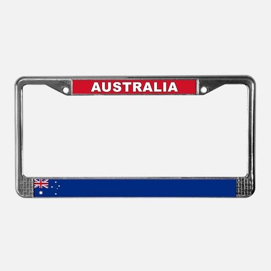 Australia World Flag License Plate Frame