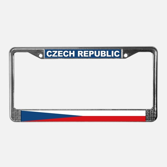 Czech Republic World Flag License Plate Frame