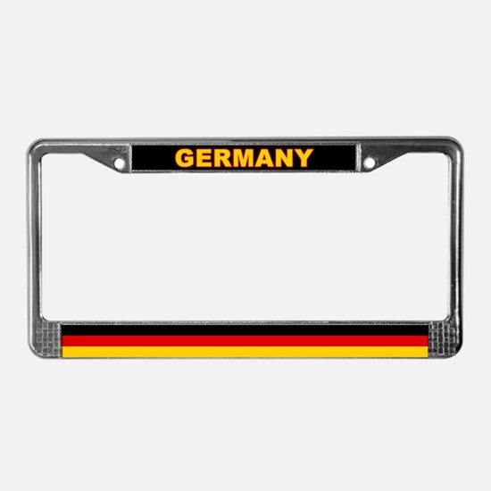 Germany World Flag License Plate Frame