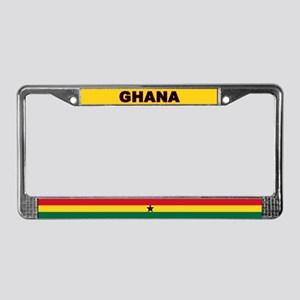Ghana World Flag License Plate Frame