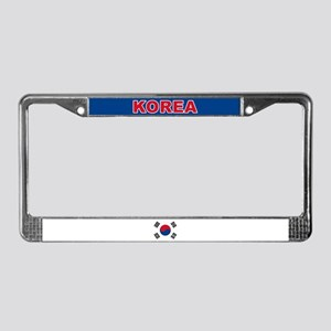 South Korea World Flag License Plate Frame