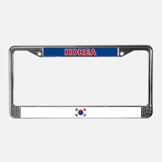 South Korea World Flag License Plate Frame