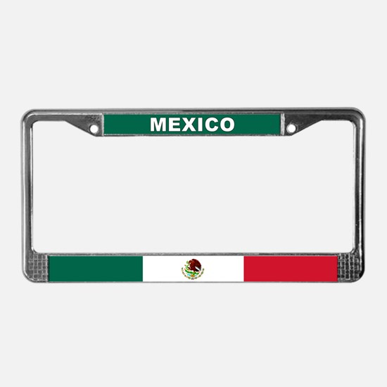 Mexico World Flag License Plate Frame