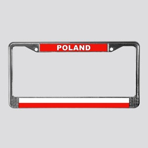 Poland World Flag License Plate Frame