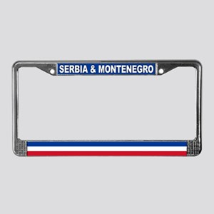 Serbia & Montenegro World Flag License Plate Frame