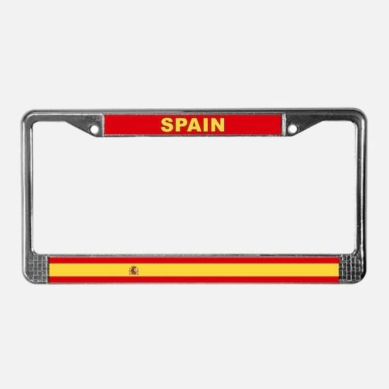 Spain World Flag License Plate Frame