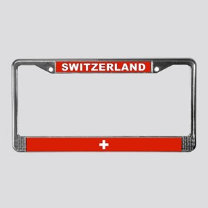 Switzerland World Flag License Plate Frame