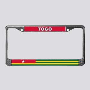 Togo World Flag License Plate Frame