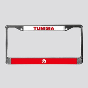 Tunisia World Flag License Plate Frame
