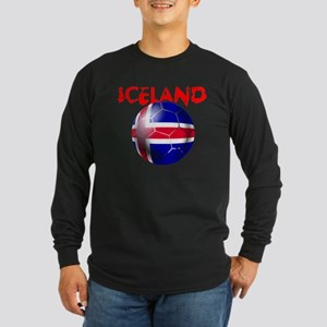 Icelandic Soccer Long Sleeve Dark T-Shirt
