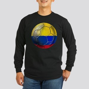 Colombian Soccer Futbol Long Sleeve Dark T-Shirt