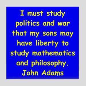 john adams Tile Coaster