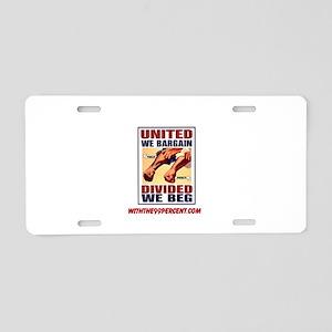 United Aluminum License Plate