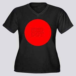 RED DOT Women's Plus Size V-Neck Dark T-Shirt