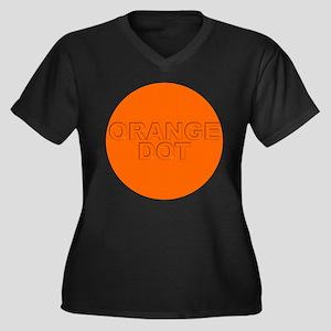ORANGE DOT Women's Plus Size V-Neck Dark T-Shirt