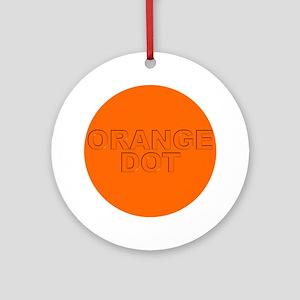 ORANGE DOT Ornament (Round)