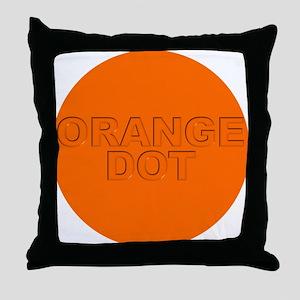 ORANGE DOT Throw Pillow