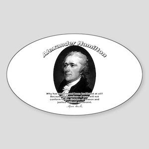 Alexander Hamilton 02 Oval Sticker