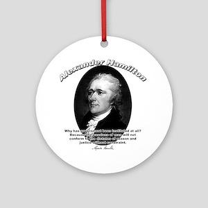 Alexander Hamilton 02 Ornament (Round)