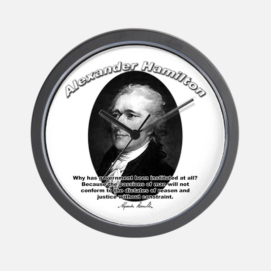 Alexander Hamilton 02 Wall Clock