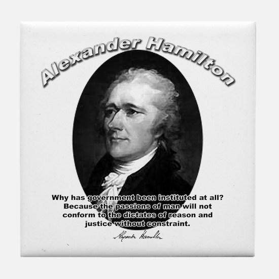 Alexander Hamilton 02 Tile Coaster