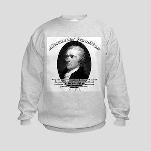 Alexander Hamilton 02 Kids Sweatshirt
