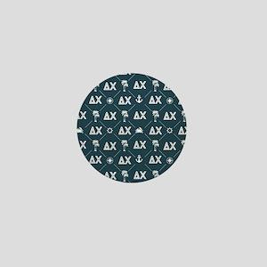 Delta Chi Pattern Blue Mini Button
