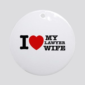 Lawyer Wife Ornament (Round)
