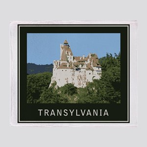 Transylvania Bran Castle Throw Blanket