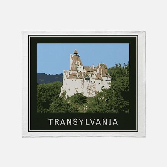Transylvania Bran Castle Throw Blanket