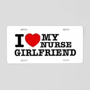 Nurse Girlfriend Aluminum License Plate