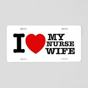 Nurse Wife Aluminum License Plate